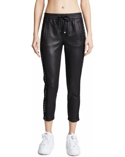 Повседневные черные укороченные брюки на резинке Koral Activewear