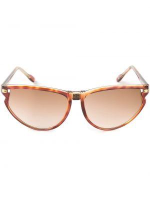 Коричневые муслиновые солнцезащитные очки Givenchy Pre-owned