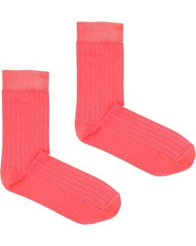 Klasyczne różowe skarpety bawełniane Kabak