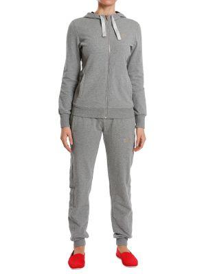 Хлопковый спортивный костюм - серый Ea7 Emporio Armani
