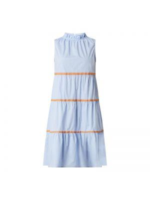 Niebieska sukienka rozkloszowana bez rękawów Risy & Jerfs