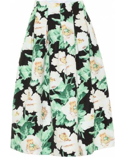 Плиссированная классическая юбка миди Oscar De La Renta