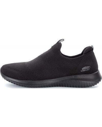 Кроссовки из искусственной кожи черные Skechers