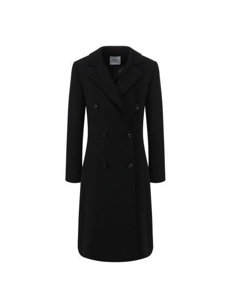 Черное шерстяное пальто с лацканами с подкладкой Weill
