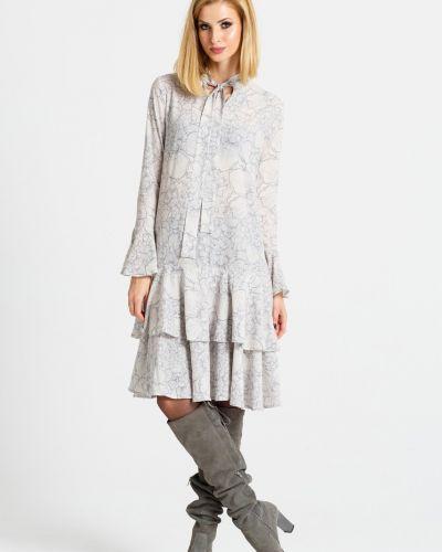 Платье мини свободного кроя с оборками Naoko
