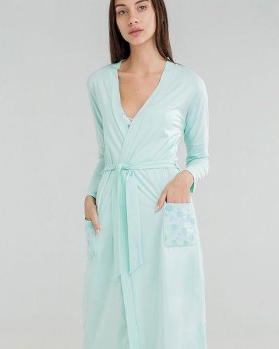 Зеленый домашний халат Ora