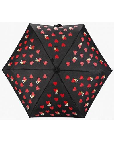 Зонт черный складной Moschino