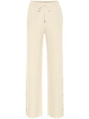 Спортивные брюки кашемировые желтый Loro Piana