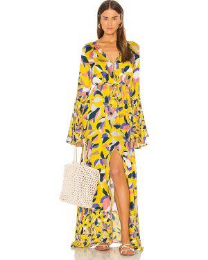 Sukienka z guzikami żółta Maaji