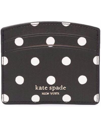 Черный кожаный картхолдер Kate Spade