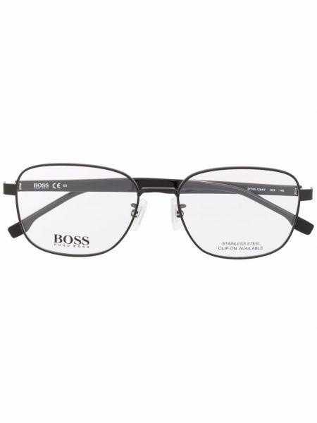 Czarne okulary srebrne Boss Hugo Boss