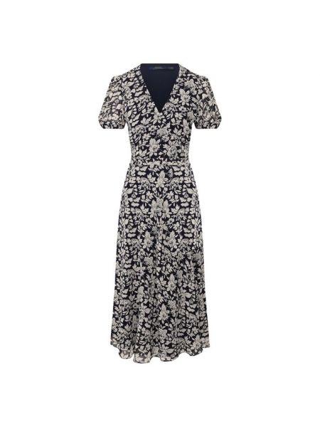 Платье мини с запахом с цветочным принтом Polo Ralph Lauren