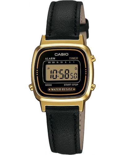 Водонепроницаемые часы на кожаном ремешке кварцевые Casio