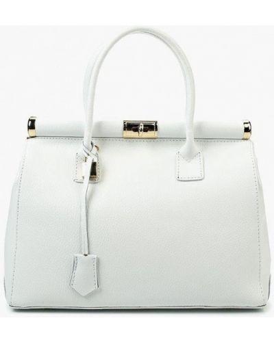 Белая сумка с ручками из натуральной кожи Roberta Rossi