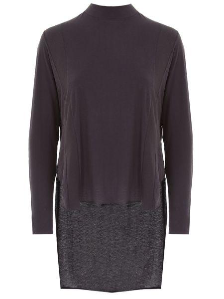 Шелковая футболка - черная Damir Doma