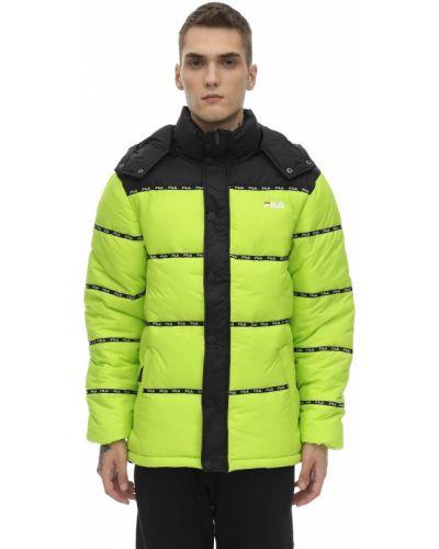Zielona kurtka z kapturem Fila Urban