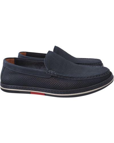 Кожаные туфли - синие Arees Meniwa