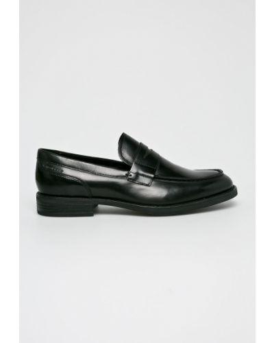Черные кожаные туфли Vagabond