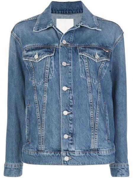 Джинсовая куртка на пуговицах с карманами Mother
