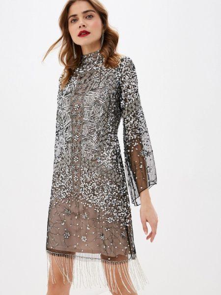 Вечернее платье осеннее серебряный Frock And Frill