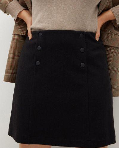 Черная юбка свободного кроя Violeta By Mango