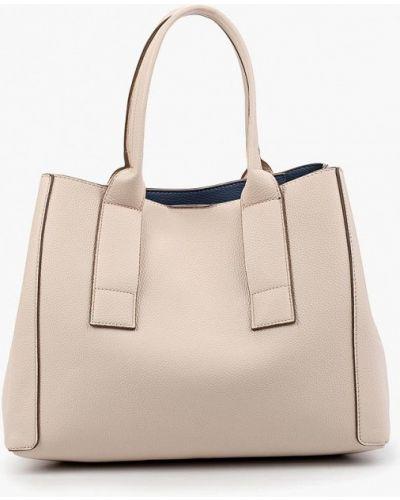 Белая кожаная сумка Mango