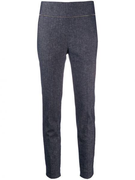 Укороченные брюки - синие Fabiana Filippi