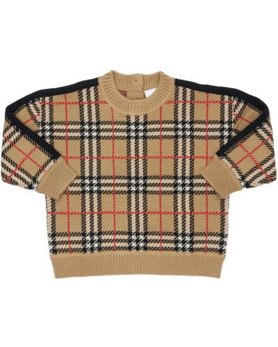 Beżowy sweter wełniany Burberry