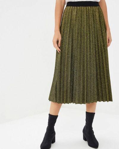 Плиссированная юбка итальянский золотой Perfect J