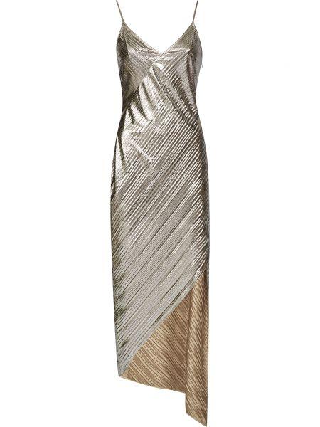 Серебряное платье на молнии David Koma