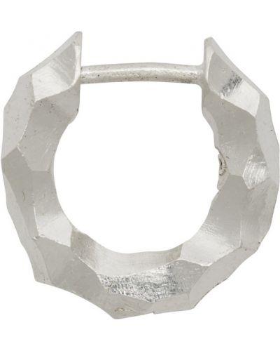Тонкие серебряные серьги-кольца для худых All Blues