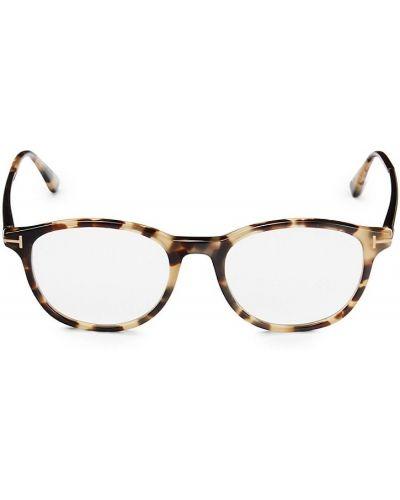 Солнцезащитные очки металлические - синие Tom Ford