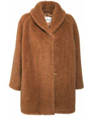 Коричневая куртка из верблюжьей шерсти с лацканами с подкладкой Max Mara
