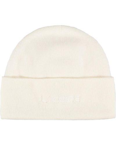 Вязаная шапка - белая Lacoste