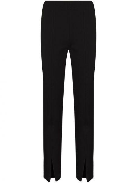 Spodni czarny spodnie z mankietami Tibi