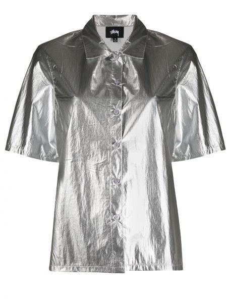 Рубашка с коротким рукавом - серебряная Stussy
