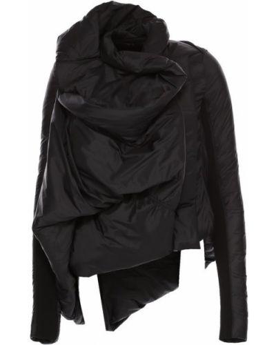 Утепленная куртка черная стеганая Rick Owens