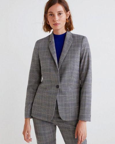 Серый пиджак осенний Mango