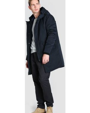 Синяя куртка с капюшоном на молнии с манжетами с капюшоном Ostin