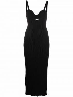 Czarna sukienka z dekoltem w serek Magda Butrym
