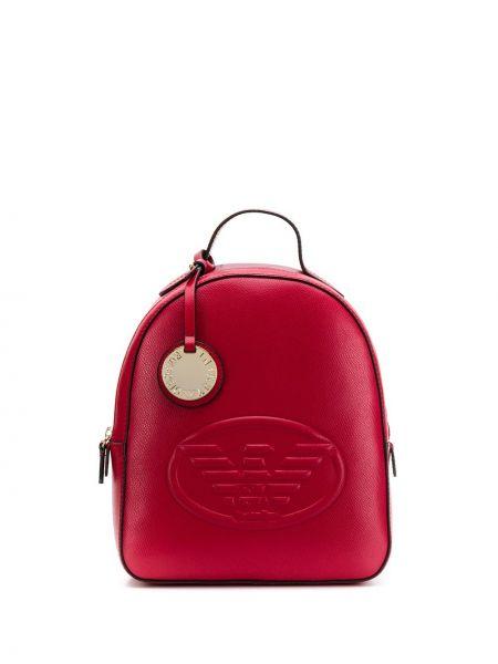 Skórzany plecak wytłoczony Emporio Armani