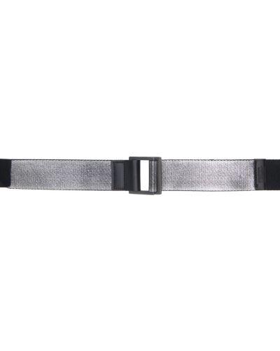 Czarny pasek z paskiem srebrny 132 5. Issey Miyake