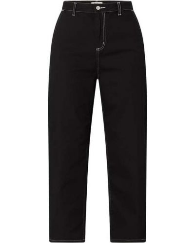 Mom jeans bawełniane - czarne Carhartt Work In Progress