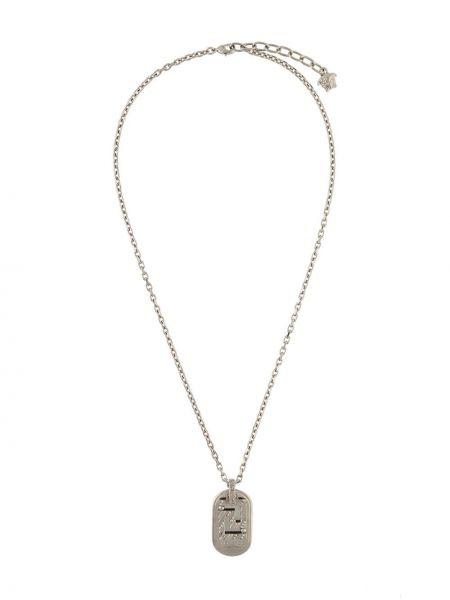 Серебряное ожерелье с подвесками металлическое Versace