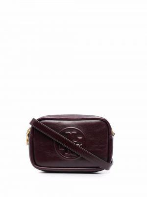 Кожаная сумка - красная Tory Burch