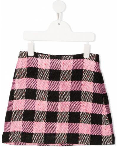 Приталенная прямая акриловая черная юбка Marni Kids