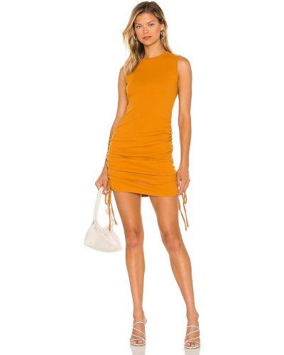 Хлопковое вечернее платье - оранжевое Bcbgeneration