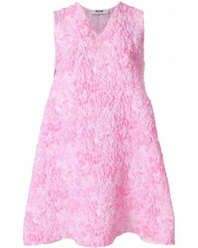 Платье с V-образным вырезом с вышивкой Msgm