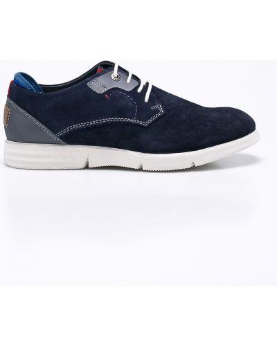 Туфли на шнуровке кожаный текстильные S.oliver