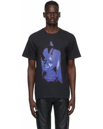 Czarny t-shirt krótki rękaw bawełniany Mowalola